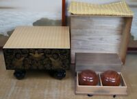Japanese Goban thick board Kaya wood stone and shell 1950s Japan high craft