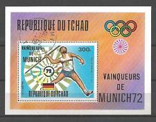 Jeux Olympiques d' été Tchad (53) bloc oblitéré