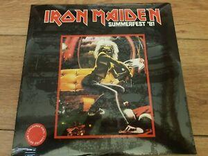 IRON MAIDEN - SUMMERFEST '81 - RARE RED WAX NO'D 2LP USA 1981 MINT SEALED NEW !!