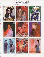 PABLO PICASSO CUBISM SURREALISM ART PAINTER TADJIKISTAN 1999 MNH STAMP SHEETLET