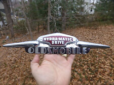 "1946 1948 1949 Oldsmobile Hydra-Matic Trunk emblem 418561 cloisonne 15"" long"