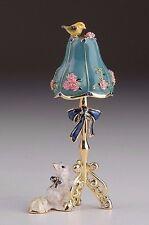 Faberge Cat & lamp trinket box hand made by Keren Kopal with Austrian crystal