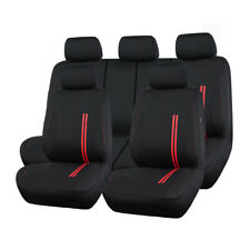 Universal Sporty Car Seat Covers Red Breathable Split Rear 40/60 50/50 40/20/40