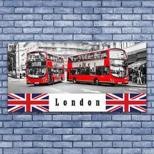 Glasbilder Wandbild Druck auf Glas 140x70 London Busse Kunst