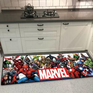 Marvel Comic The Avengers Cool Velboa Floor Rug Carpet Kitchen Non-slip Mat Stoc