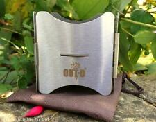 OUT-D STAINLESS STEEL FOLDING POCKET COOKING STOVE BUSHCRAFT SURVIVAL CAMPING