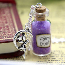 Fairy Dust and a Fairy Charm glass Bottle Necklace Once Upon a Time Inspired