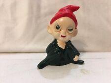 Vintage Japan Rare Little Pixie Winking Elf Figurine 1950s Xmas
