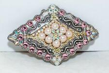 Hand encrusted Diamond belt made with Swarovski Crystal and false pearls