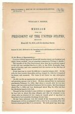 President Grover Cleveland Re: William P. Riddle Disability Pension Request