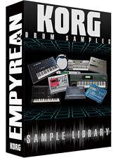 KORG Drum Samples WAV Library Drum Machine Drumkit Modules Synth Sounds CD-R