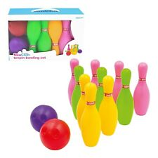 Indoor Outdoor Skittles Game Children Bowling Kids Bowling Set with Balls & Pins