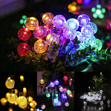 More details for 200 led retro bulb string lights solar powered garden outdoor fairy summer lamp
