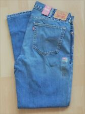 Levi's Men's New 559 38X34 Blue Jeans Relaxed Fit Straight Leg LoRise 0447