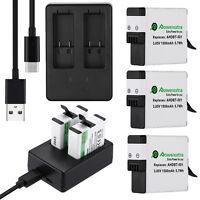 1500mAh For GoPro Hero 5 Black Hero5 AHDBT-501 Battery or Dual USB Port Charger