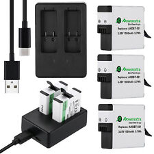 1500mAh For GoPro Hero 5 Black Hero5 AHDBT-501 Battery or Dual USB Port Charger