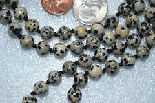 Dalmatian Jasper Prayer Beads 8mm 108+1 Hand Knotted Japa Meditation Mala