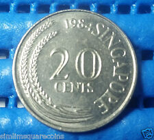 1984 Singapore 20 Cents Sword Fish Coin