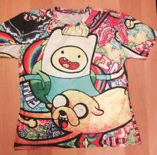 ADVENTURE TIME Psychadelic Print Short Sleeve T-Shirt - Size: XXXL