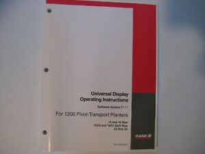 New Case IH 1200 Planters Universal Display Operating Instructions 87048265