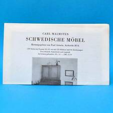Carl Malmsten Schwedische Möbel | Prospekt Werbung Werbezettel 1955