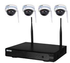 4-Kanal WLAN Überwachungsset NVR Domekamera Überwachungskamera Hausüberwachung