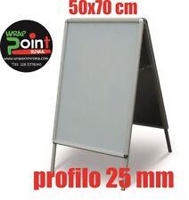 ESPOSITORE CAVALLETTO BIFACCIALE ALLUMINIO 50x70 cornici pubblicitarie con pvc