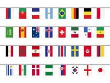 Fahnenkette passend zur WM 2018, 32 Länder Flaggen Girlande, 12m Länge, Flaggeng