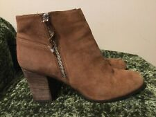 Cole Haan Brownish Rose Nubuck Leather Ankle Booties Boots 9.5
