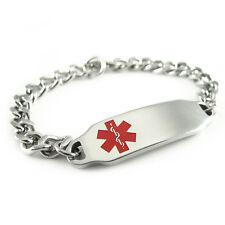 MyIDDr - Womens - Pre Engraved - GLUTEN ALLERGY Alert ID Bracelet