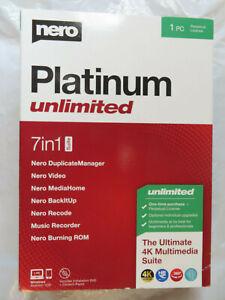 NERO PLATINUM UNLIMITED 7 IN 1 SUITE 1PC SOFTWARE BRAND NEW