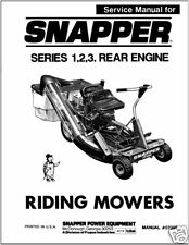 Snapper Rear Engine Riding Mower Series 1 ,2, 3