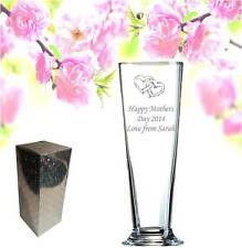 Personalised Engraved Glass Vase Bridesmaid,Wedding , mother, Birthday 20x7x7cm