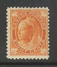 Canada # 72, 1897 8c Queen Victoria - Maple Leaf Issue, Unused HR