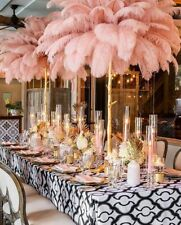 40-45cm Large Ostrich Feathers British Retro Plume Wedding Party Decor Ornament