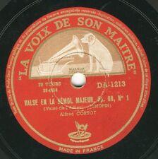 Alfred Cortot plays Chopin Waltz op. 69 N 1; Tarantella op. 43  HMV 78 rpm