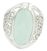 Chalzedon echtes blauer Edelstein Silberring Geschenk für de Jahrestag sz 48-72