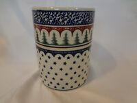 Boleslawiec Polish Pottery - Utensil Jar with Evergreen Trees