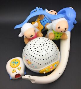 VTech Lullaby Lambs Mobile (Blue) Baby Night Light Projector Baby Born Cot Toy