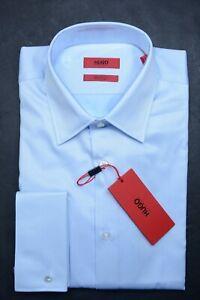 Hugo Boss Men's George Reg Fit French Cuff Easy Iron Cotton Dress Shirt 43 17