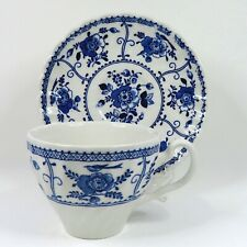 JOHNSON BROTHERS - INDIES  BLUE - CUP & SAUCER  England.