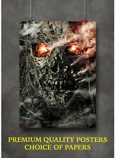 Terminator Salvation Classic Movie Large Poster Art Print Gift A0 A1 A2 A3