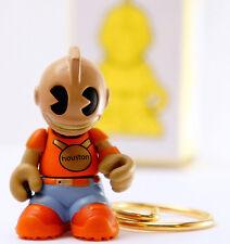 """Kidrobot Super Mini 1.5"""" Key Chain Series 2 Bots Wall Houston Orange Vinyl Art"""