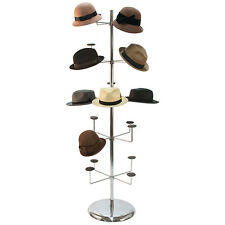 Hat Millinery Round Stand Retail Store Floor Display Rack 4 Levels 20 Caps New