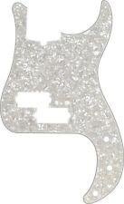 Genuine Fender Modern Standard Precision Bass Pickguard 13-Hole, Aged White Moto