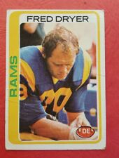 Fred Dryer 1978 Topps CARD #366 LA Rams DE GVG TV HUNTER Series (HS)