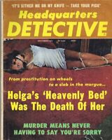 ORIGINAL Vintage September 1975 Headquarters Detective Magazine GGA
