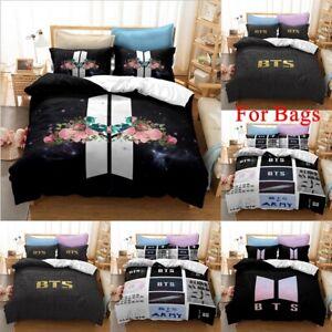 Kpop BTS Bangtan Singer Bedding Set 3PCS Quilt Cover Duvet Cover Pillowcase AU