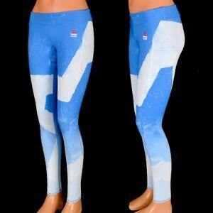 Reebok Crossfit Sports Leggings Children Running Training Trousers Cross Blue/