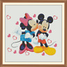 minnie and mickey Cross Stitch Chart only x 12.0 x 12.0 Inches.